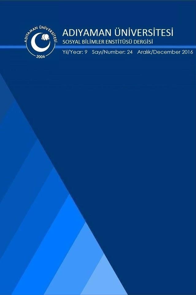 Adıyaman Üniversitesi Sosyal Bilimler Enstitüsü Dergisi