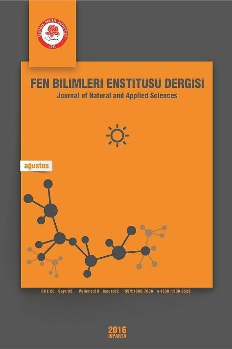 Süleyman Demirel Üniversitesi Fen Bilimleri Enstitüsü Dergisi
