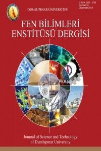 Dumlupınar Üniversitesi Fen Bilimleri Enstitüsü Dergisi