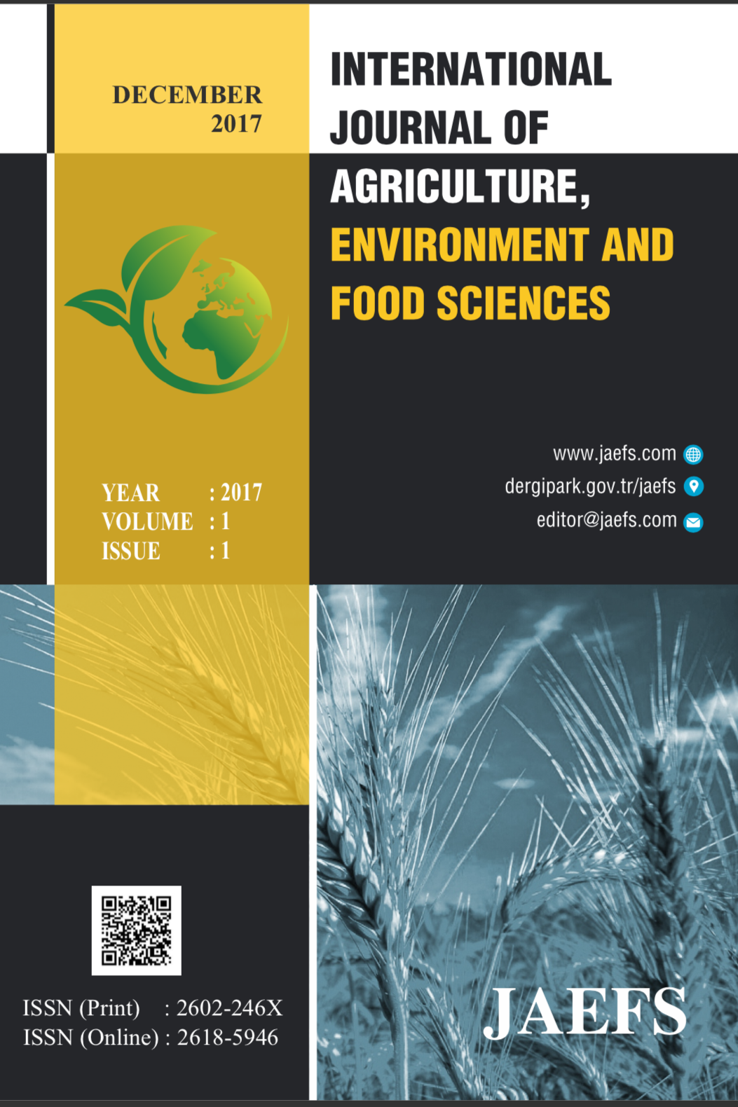 International Journal of Agriculture, Environment and Food Sciences